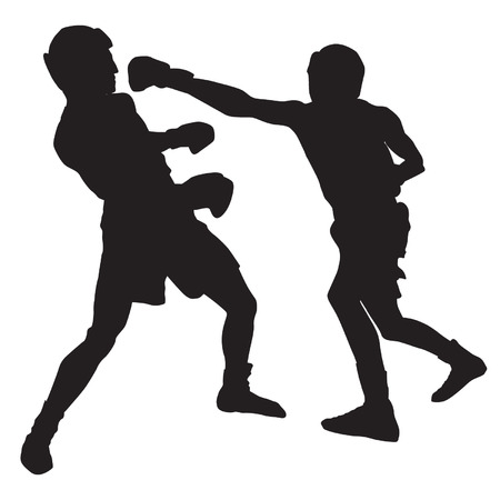 silhouettes: Boxing Silhouettes Illustration