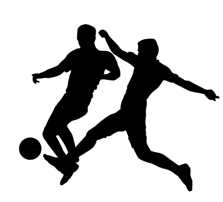 soccer players: Soccer Players Silhouettes