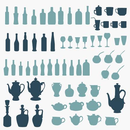 vessels: Vessels set Illustration