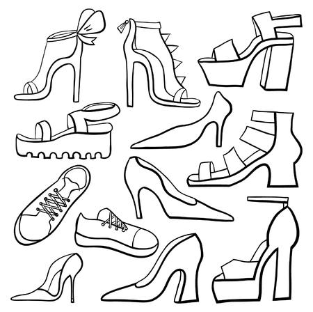 fetishes: Set of shoes