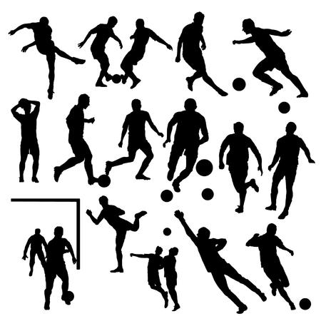 jugadores de futbol: Jugadores de fútbol Siluetas