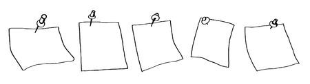 Note papers croquis Vecteurs