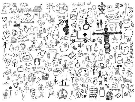Health care doodles Illustration