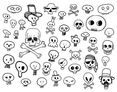 Skulls doodles