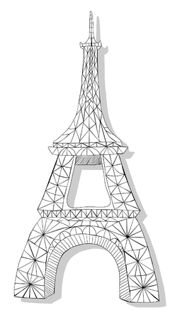gallic: Hand drawn Eiffel tower Illustration