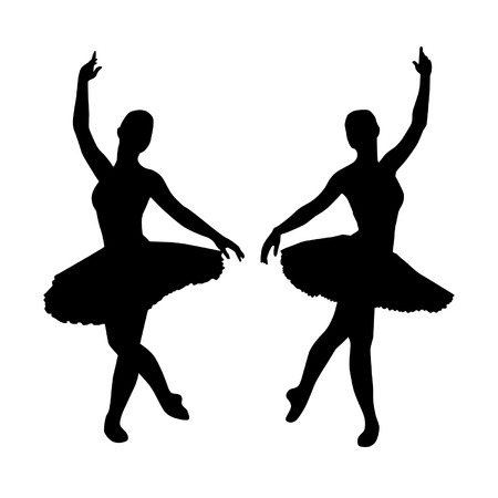 young woman: Ballerina silhouettes