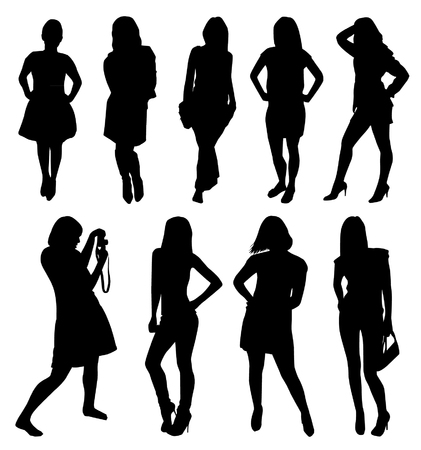 silhouettes: girl silhouettes