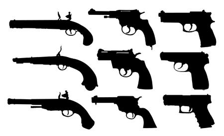 pistols: Set of pistols
