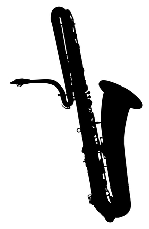 music instruments: saxophone silhouette
