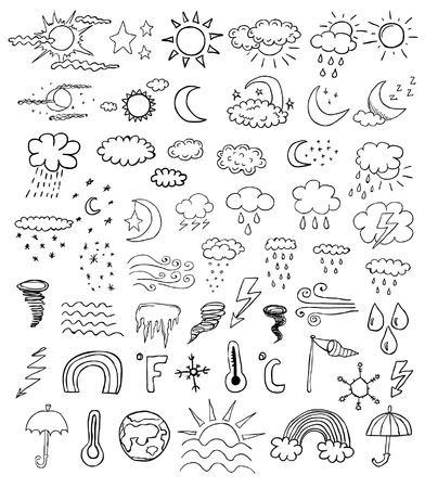 weather symbols Stock fotó - 63136042