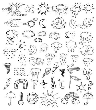 weer symbolen  Stock Illustratie