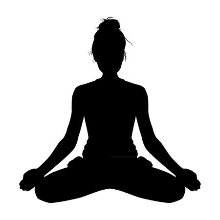 silueta de la yoga