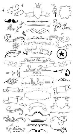 Vintage design elementen Vector Illustratie