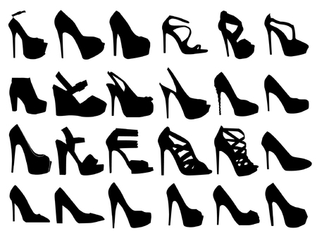 fetishes: Set of woman shoe silhouettes