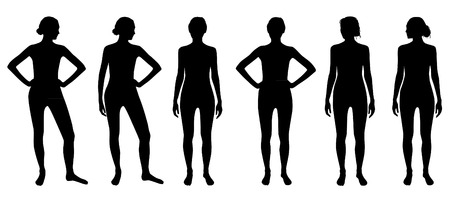 various: Set of woman silhouettes