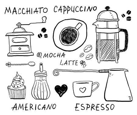 Coffee objects Illustration