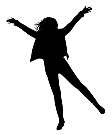 jump up: Happy girl silhouette