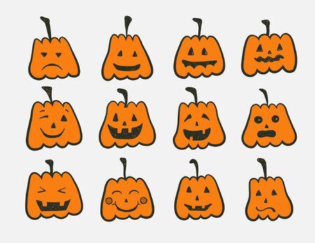 smilling: halloween pumpkins