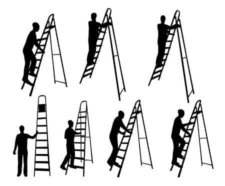 silueta hombre: El hombre en siluetas de escalera