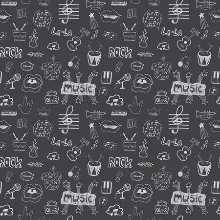 seamless pattern: Music symbols. Seamless pattern Illustration