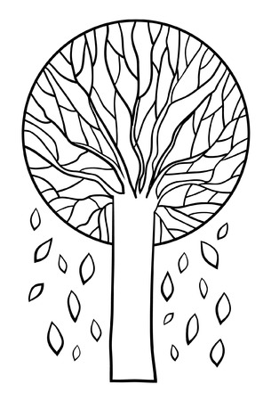 oak wood: tree sign Illustration