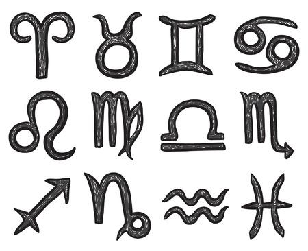 psychic: zodiac signs Illustration