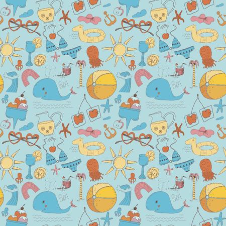 Beach seamless pattern