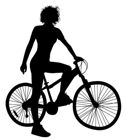 Girl On A Bike Silhouettes