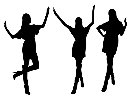 Woman Silhouettes Illustration