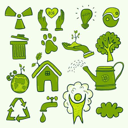 エコのシンボルのセット  イラスト・ベクター素材