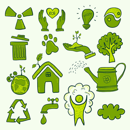 Set of eco symbols