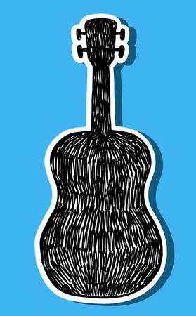 Vector guitar silhouette