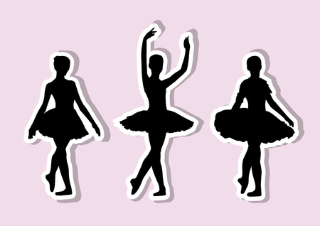 Ballet silhouettes stickers