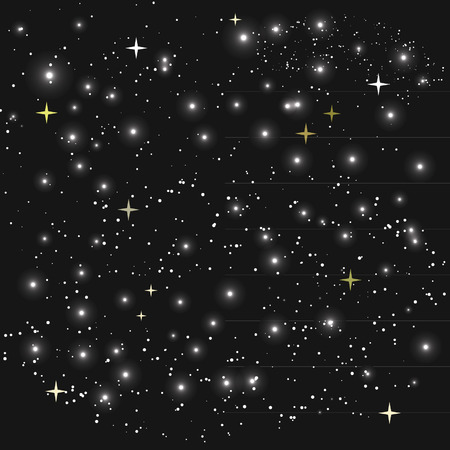 Space with stars vector