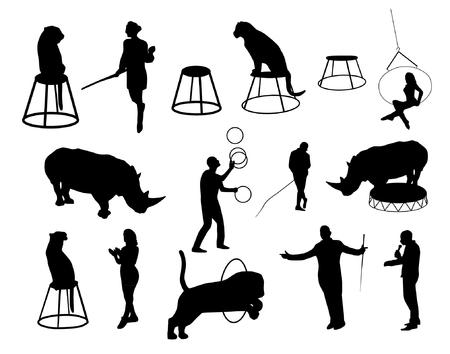 Vector circus silhouettes