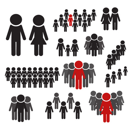 People Icon work group Team Vector. Leadership vector set.