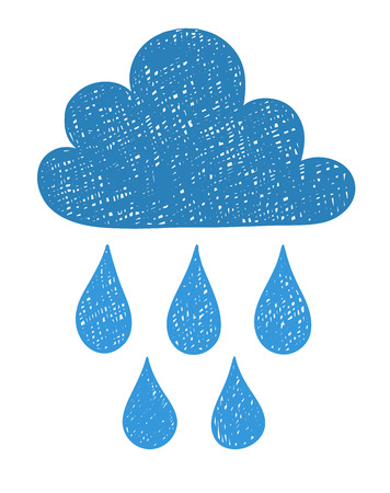 Hand draw the weather cloud doodle sketch. Scribble style vector illustration. Illustration
