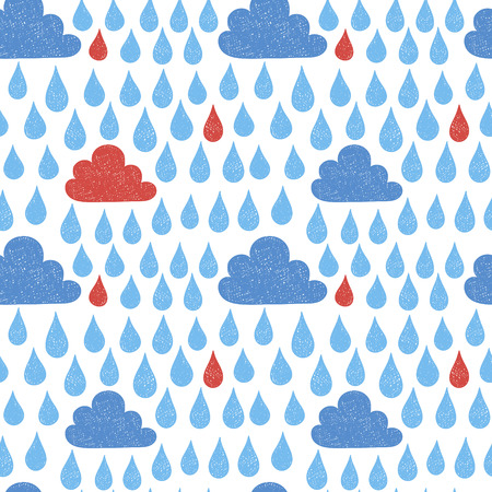 Hand draw the weather cloud doodle sketch. Scribble style vector illustration seamless pattern wallpaper