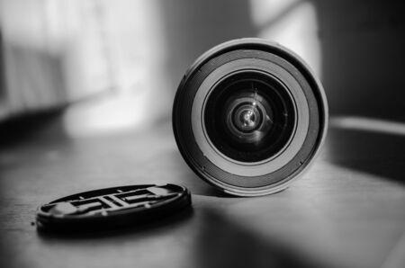 open front  lens cap Stock fotó