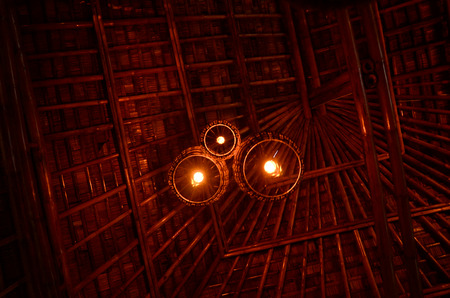 downlight: bamboo tungsten   downlight Stock Photo