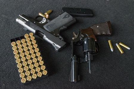short gun  and  bullets Banco de Imagens