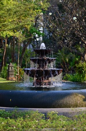 garden fountain: fountain in garden