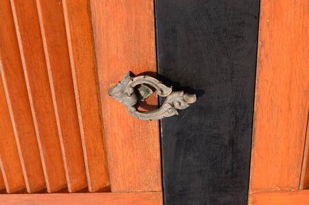 knob: Asian door knob Stock Photo