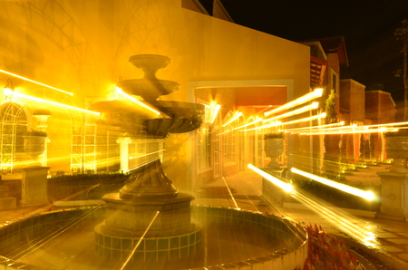 Fountain zooming night Stok Fotoğraf