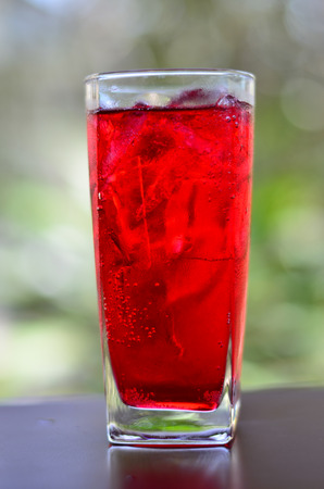 Red soda water