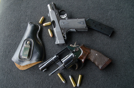 automatic: gun   roller  and  automatic Stock Photo