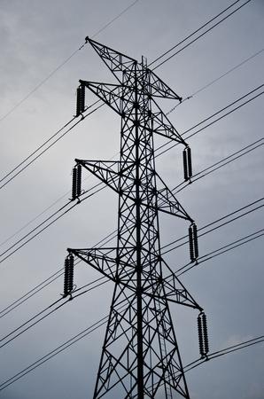 megawatts: Power Transmission Line Stock Photo