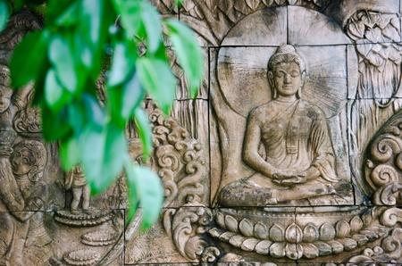 Buddha stone carvings Banco de Imagens