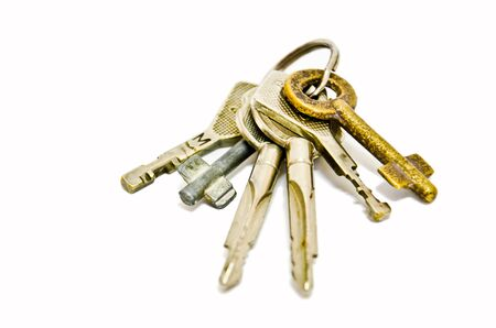 A bunch of keys isolated Stock Photo - 11133110