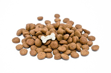 Pet food on a white background  photo